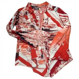 Jean Paul Gaultier Red Cotton Top for Women Vintage