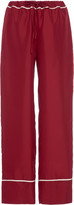 Marni Two-Tone Silk-Satin Wide-Leg Pants