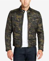 William Rast Men's Ratso Full-Zip Moto Puffer Jacket