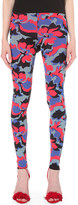 Emilio Pucci Floral-intarsia stretch-knit leggings
