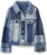 Pieced denim jacket