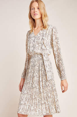 Current Air Olivia Snake-Printed Midi Dress