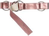 Ribeyron Pink Metallic Oversized Loop Belt