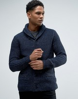 Celio Shawl Neck Knitted Cardigan