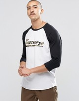 Converse C75 Raglan T-shirt With Logo In White 10001193-a01
