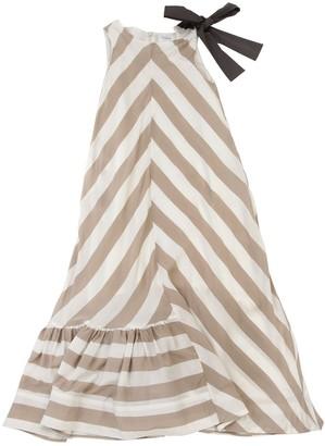 Unlabel Long Striped Viscose Dress