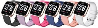 Posh Tech Large Fitbit Versa Silicone Band - Pack of 6