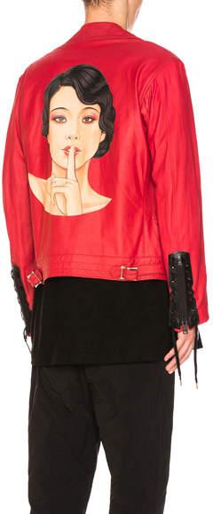 Yohji Yamamoto Standing Finger Leather Jacket