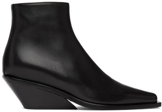 Ann Demeulemeester Black Wedge-Heel Ankle Boots