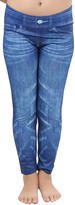 Tobeinstyle ToBeInStyle Women's Leggings Blue - Blue Distressed Jeggings - Women