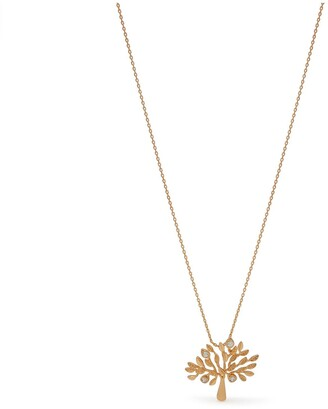 Mulberry Tree Necklace Brass Metal and Swarovski Crystal