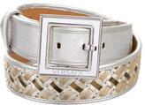 Versace Metallic Woven Belt