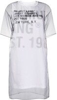 Helmut Lang sheer overlay T-shirt dress