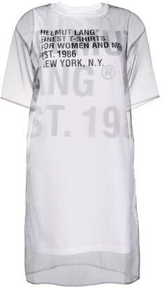 Helmut Lang sheer overlay T-shirt dress
