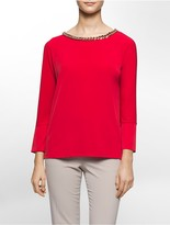 Calvin Klein Hardware Chain Dolman Sleeve Top