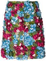 Dolce & Gabbana Hydrangea embroidered skirt