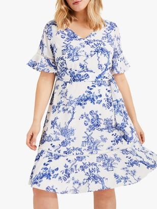 Studio 8 Ines Printed Dress, Blue/White