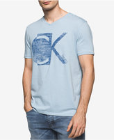 Calvin Klein Jeans Men's Ck Inverted Graphic Print V-Neck T-Shirt, Created for Macy's