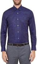 Ted Baker Floral Jacquard Regular Fit Button Down Shirt