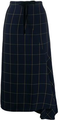 McQ High-Waisted Check Print Skirt