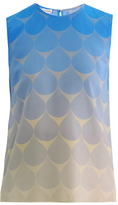 Jonathan Saunders Creighton teardrop silk top