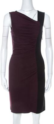Diane von Furstenberg Colorblock Stretch Knit Gladys Dress S