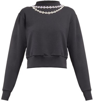Christopher Kane Daisy Chain-embellished Top - Black