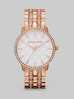 Lady Nini Round Rose Goldtone Bracelet Watch
