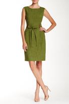 Ellen Tracy Embellished Belt Loop Woven Dress