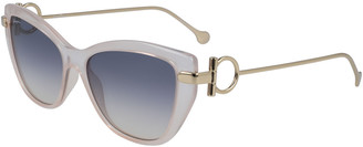 Salvatore Ferragamo Gancio Cat-Eye Plastic & Metal Sunglasses