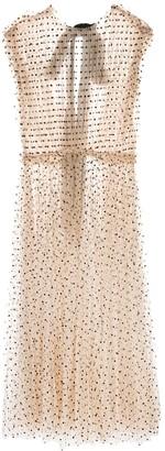 KHAITE Sheer Polka Dot Dress