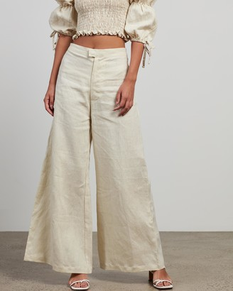 Faithfull The Brand Women's Neutrals Pants - Duda Pants - Size 6 at The Iconic