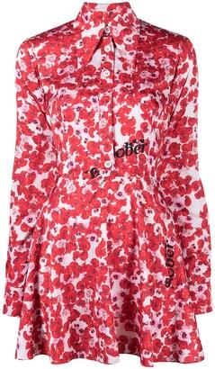 Natasha Zinko Floral-Print Mini Dress
