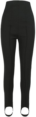 Off-White High-Rise Stirrup Ankle Skinny Zip Pants