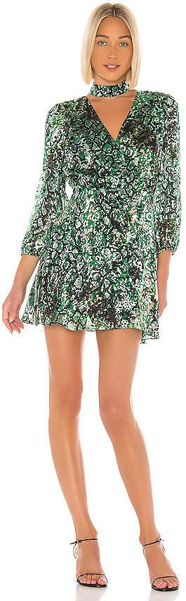 Alice + Olivia Rita Blouson Sleeve Mini Dress