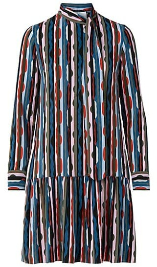 Thumbnail for your product : Akris Punto Mulberry Silk Scottish Highlands Dress