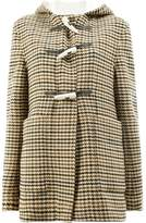 Wales Bonner houndstooth duffle coat