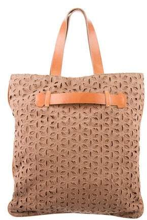 Derek Lam Leather-Trimmed Woven Tote