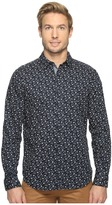 Nautica Long Sleeve Floral Print Men's Clothing
