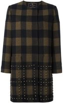 Etro studded checked coat - women - Silk/Polyamide/Acetate/Wool - 40