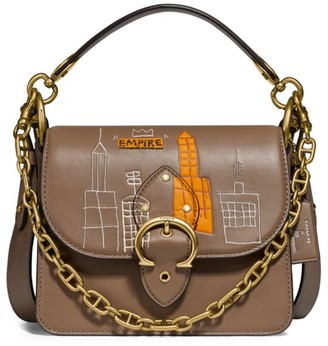Coach x Basquiat Mecca Chain Leather Top Handle Bag