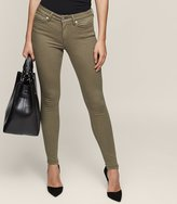 Reiss Stevie Khaki - Low-rise Skinny Jeans in Brown, Womens