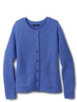 Classic Women's Regular Tuck Stitch Cardigan Sweater-True Blue