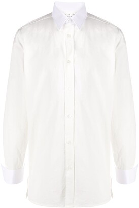 Maison Margiela Long-Sleeve Cotton Shirt