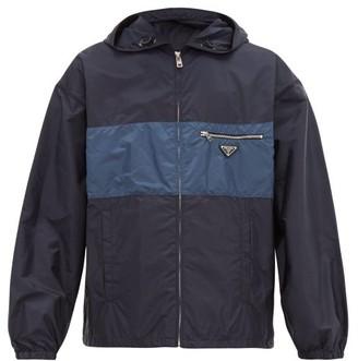 Prada Logo Plaque Technical Jacket - Mens - Navy
