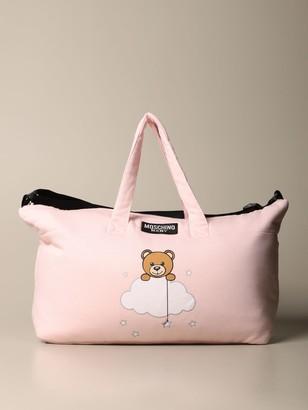 MOSCHINO BAMBINO Diaper Bag Teddy Nuvola In Cotton