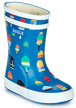 Aigle BABY FLAC KID girls's Wellington Boots in Blue
