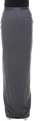 Gianfranco Ferre Grey Wool & Silk Blend Maxi Skirt M