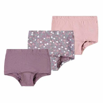 Name It Girls' NMFTIGHTS 3P Black Plum Flower NOOS Underwear 18-24 Months