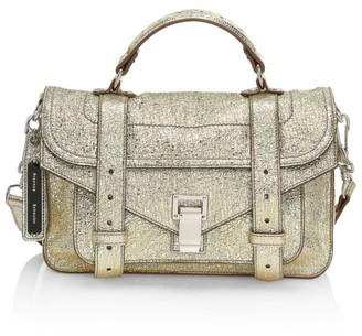 Proenza Schouler Tiny PS1 Metallic Leather Satchel
